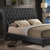 Jazmin Tufted Modern Bed with Upholstered Headboard