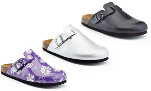 Rasolli Berta Women's Footbed Slide Sandals. Wide Width.