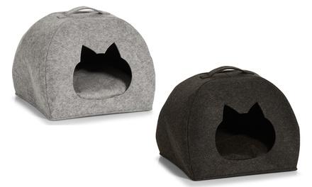 Cuccia a grotta: Testa di gatto / Grigio