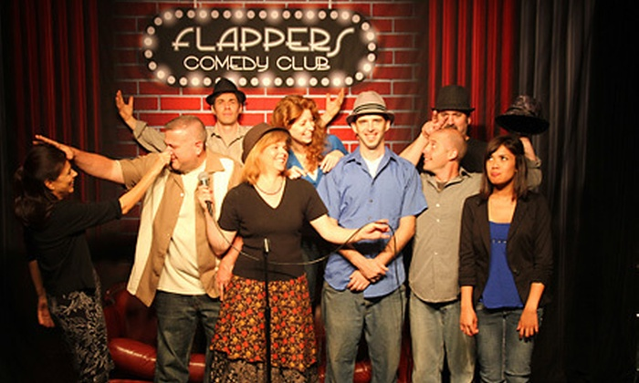 Flappers Comedy Club - Multiple Locations: Standup Show for Two or Four or a Private 30-Person Party at Flappers Comedy Club (Up to 78% Off)