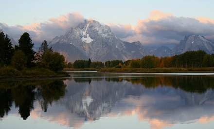 groupon daily deal - 1- or 2-Night Stay for up to Four at Jackson Hole Lodge in Jackson, WY. Combine up to Six Nights.