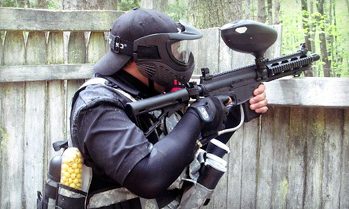 AG Paintball - Pinardville: All-Day Session with Equipment and 250 Paintballs Each for Two or Four at AG Paintball (Up to 65% Off)