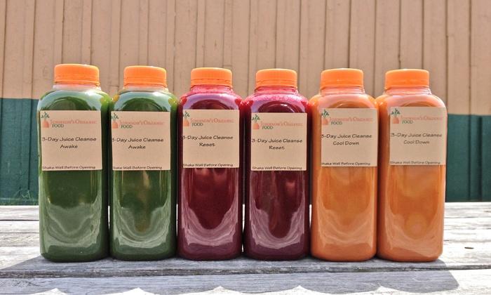 Johnson's Organic Food - Hampton Roads: Three-Day Juice Cleanse from Johnson's Organic Food (Up to 36% Off)