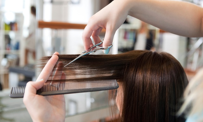 Beauty Heights Salon & Spa - Bordentown: Organic Haircut Package with Optional Single-Process Color or Partial Highlights at Beauty Heights (Up to 61% Off)