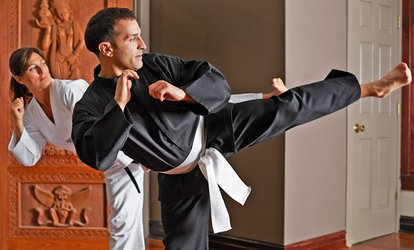 image for Four Weeks of Jujitsu Classes for Adults or Kids at Hillcrest Academy of Goshin JuJitsu (Up to 49% Off)