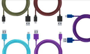 Merkury Innovations 10 Ft. Tangle-free Braided Fabric Micro-usb Cable