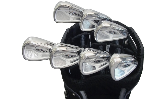 Cobra AMP Cell Irons (Steel) 5-GW in Silver: Cobra AMP Cell Irons (Steel) 5-GW in Silver