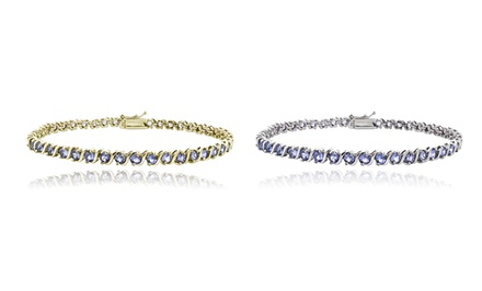 5.00 CTTW Tanzanite Tennis Bracelet in Sterling Silver