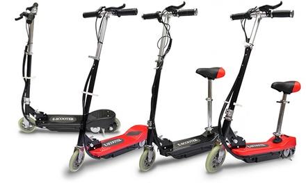 elektro scooter in rot oder schwarz optional mit sitz. Black Bedroom Furniture Sets. Home Design Ideas
