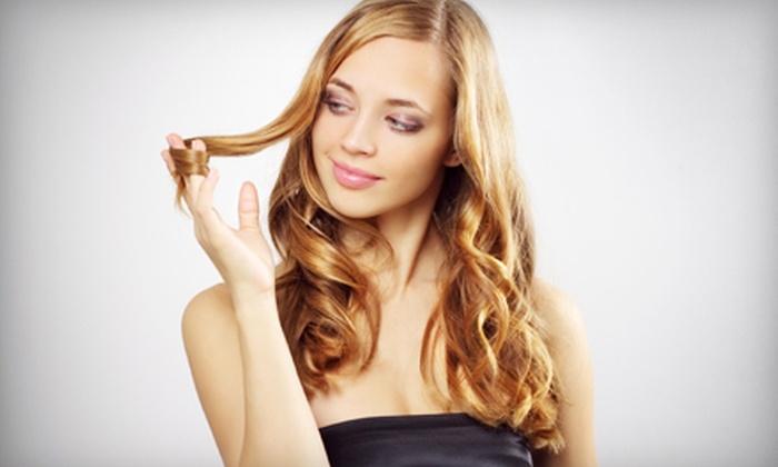 Estanzia Salon - Estanzia Salon: Haircut and Style with Deep Conditioner, Color, or Partial or Full Highlights at Estanzia Salon (Up to 65% Off)