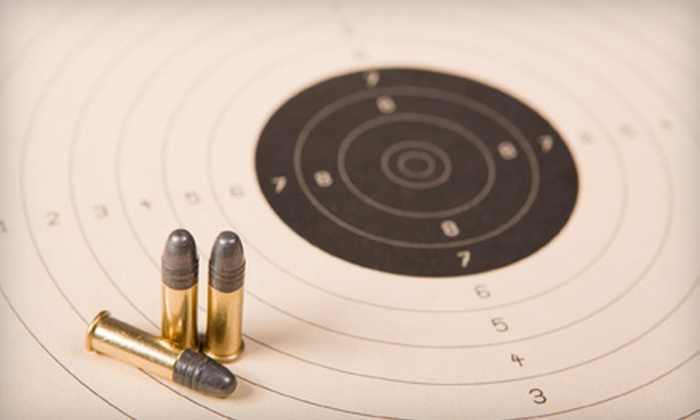 Range, Guns & Safes - Multiple Locations: Shooting-Range Package for Two or 10 Drop-In Sessions at Range, Guns & Safes (Up to 62% Off)
