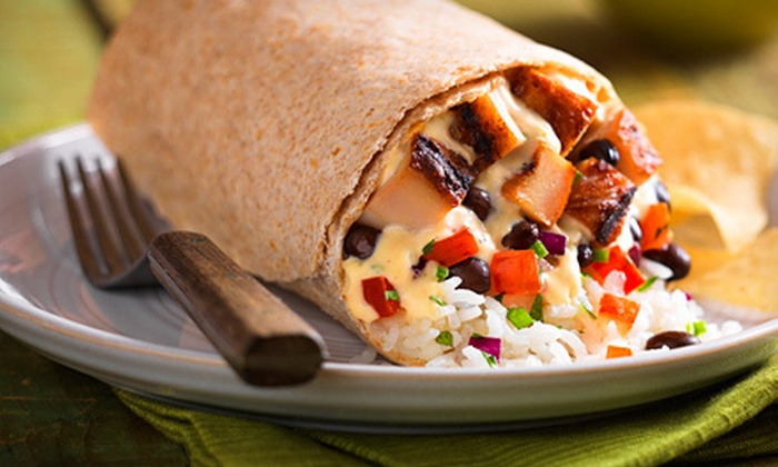 Qdoba Mexican Grill - Multiple Locations: $5 for $10 Worth of Casual Mexican Food and Drinks at Qdoba Mexican Grill. Six Locations Available.