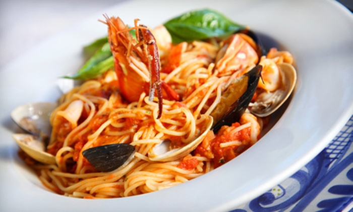 Sofia's at the North End - Northeast Virginia Beach: Steak, Seafood, and Italian Cuisine at Sofia's at the North End (Half Off). Two Options Available.