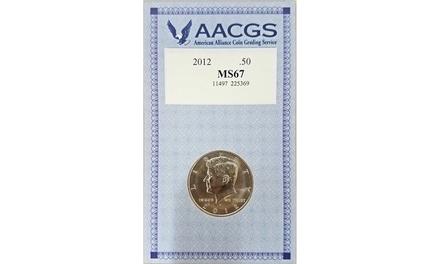 2012 JFK Half Dollar MS67