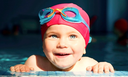 Four Swim Lessons for Babies, Pre-Schoolers, Beginners, or Juniors or a Pool Party at Medford Fitness (Up to 63% Off)