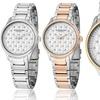 Stührling Original Ladies' Quilted Dial Watch with Swarovski Crystals