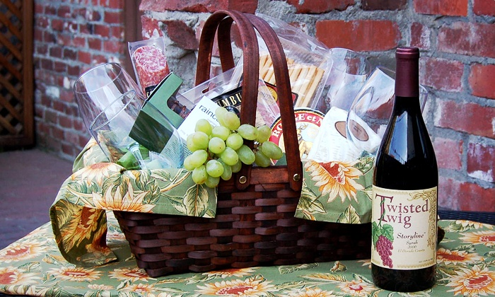 The Underground Wine Tasting Room - Old Town Sacramento: Wine-Tasting Picnic for Four or Eight at The Underground Wine Tasting Room (Up to Half Off)