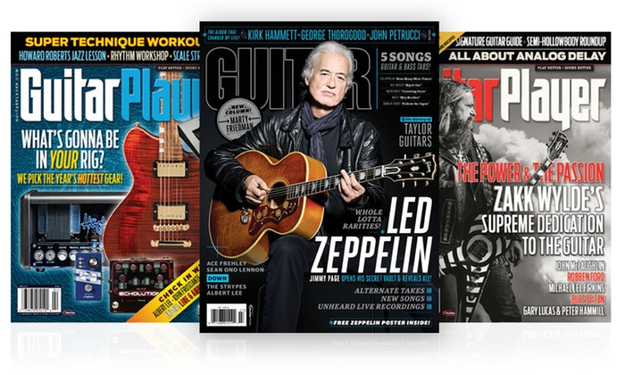 1-Year Subscription to Guitar Magazines: 1-Year Subscription to Guitar Player or Guitar World Magazine