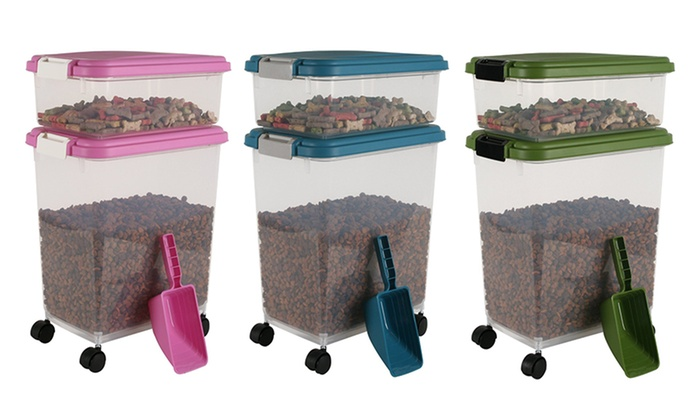 iris pet food storage container set 3piece iris pet food storage