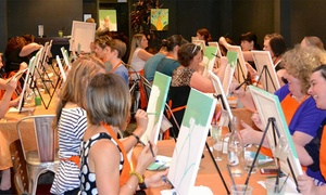 Paint It Up: Two-Hour Social Painting Night for One ($29) or Two People ($55) with Paint It Up, Multiple Locations (Up to $130 Value)