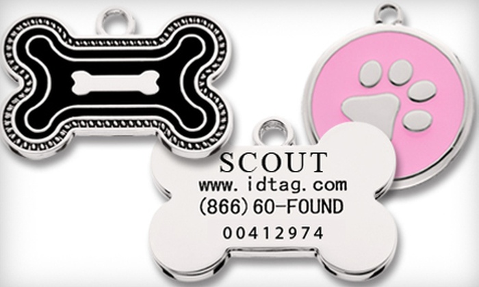 IDtag.com: SmartTag with One-Year, Five-Year, or Lifetime Pet-Protection Plan from SmartTag Pet ID (Up to US$79.85 Value)