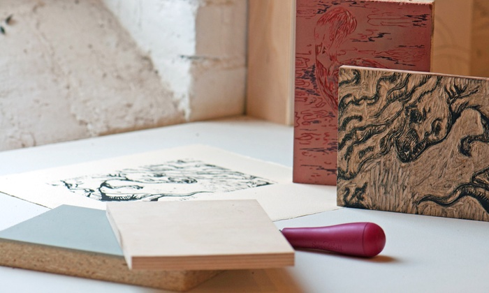 Hands-On Printing Workshop - Blandtown: Collaborate on a Woodblock Print with a Master Printer