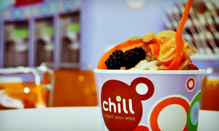 Chill Yogurt Cafe - Multiple Locations: $5 for $10 Worth of Frozen Yogurt at Chill Yogurt Cafe