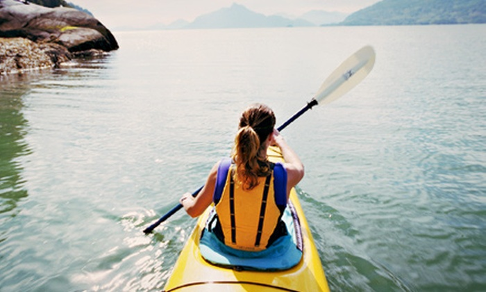 Sasquatch Adventures - Northeast Cowlitz: Kayak Fishing Trip or Sunset Paddle with Wine Tasting at Sasquatch Adventures (Up to 51% Off). Choose From 3 Options.