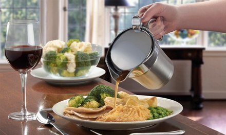 Cooks Professional Insulated Stainless Steel Gravy Jug for £12.98 (41% Off)