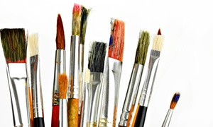Kiln-N-Time: $22 for BYOB Canvas Painting Class at Kiln-N-Time ($35 Value)