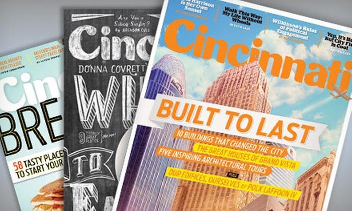 "Cincinnati Magazine: $7 for a One-Year Subscription to ""Cincinnati Magazine"" ($14.95 Value)"