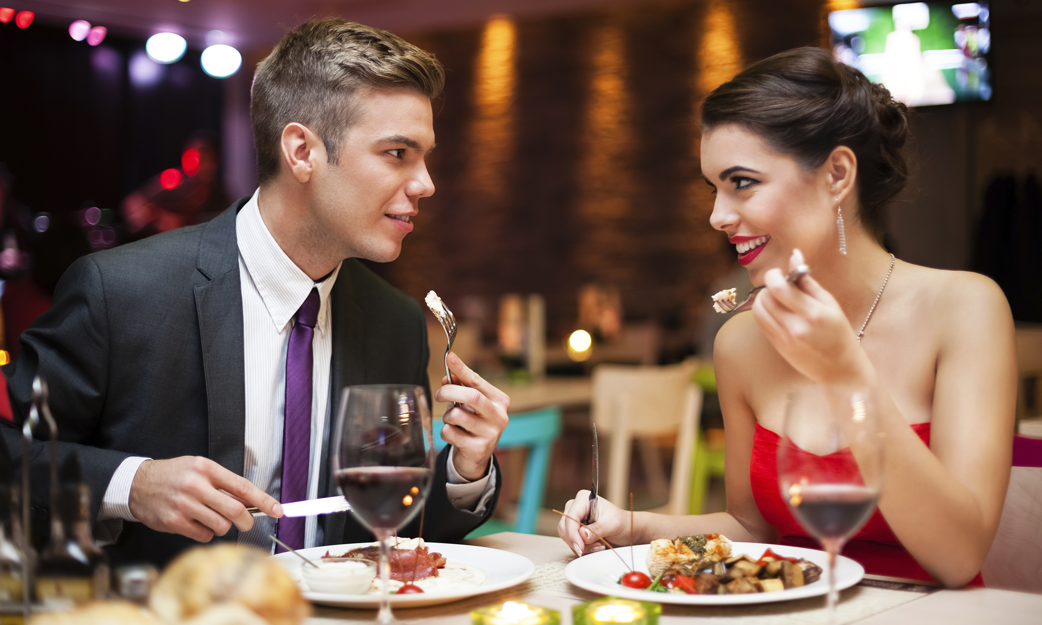Image result for couple with dinner