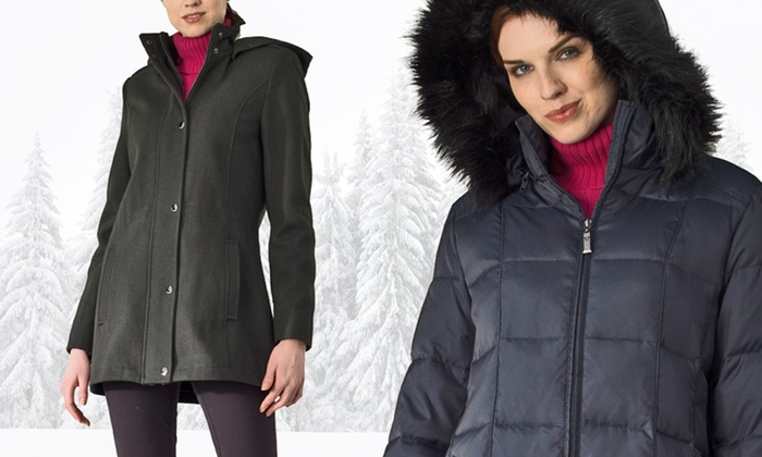 Nautica Women's Coats: Nautica Women's Wool- or Down-Blended Coats S–XL (Up to 76% Off). Free Shipping and Returns.