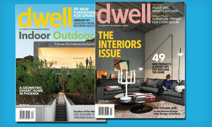 10 for a dwell magazine subscription
