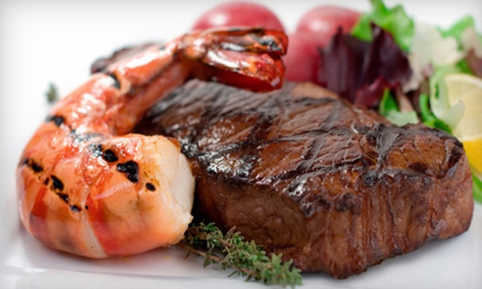 Pampas Brazilian Grille - Pampas Brazilian Grille: Surf and Turf Rodizio Dinner or Lunch at Pampas Brazilian Grille (Up to 52% Off)