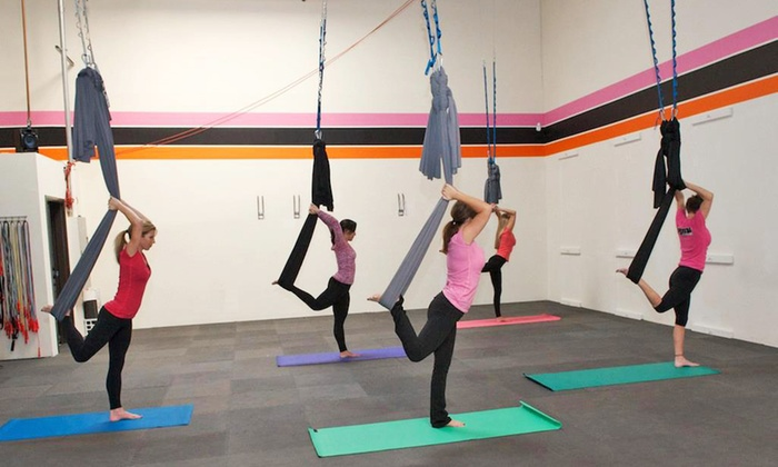 Aerie Yoga - Roseville: 10 or 20 Aerial-Yoga Classes at Aerie Yoga (Up to 86% Off)