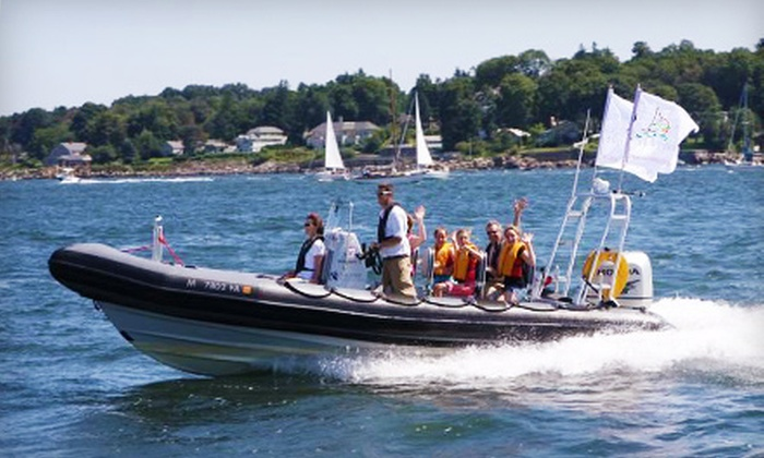 RIB Adventure Tours - North End: $39 for a 75-Minute High-Speed Harbor Islands Tour from RIB Adventure Tours ($120 Value)