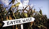 Wild West Corn Maze - OOB - Keenesburg-Hudson: Admission for Two, Four, or Six Children or Adults to Wild West Corn Maze (Up to 56% Off)