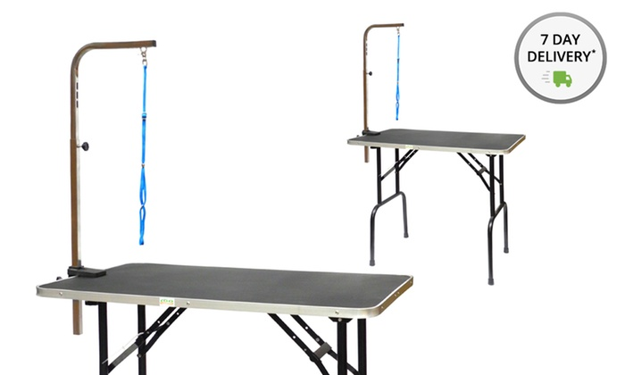 Dog grooming tables with an adjustable arm groupon