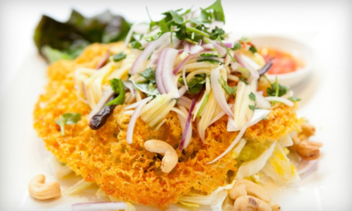 iThai Bankok Street Food - Downtown: Lunch for Two or Four, or Dinner for Two, Four, or Six at iThai (Up to 56% Off)