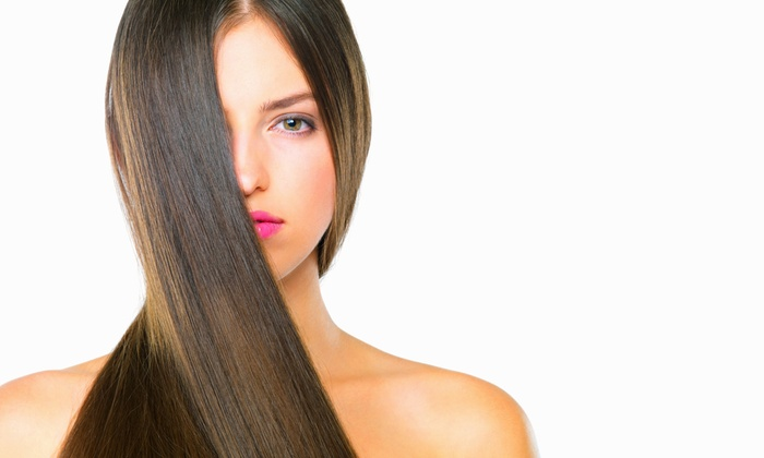 On the Cutting Edge Salon/Spa - Hillcrest: Haircut with Keratin Treatment, Color, or Partial Highlights at On the Cutting Edge Salon/Spa (Up to 55% Off)