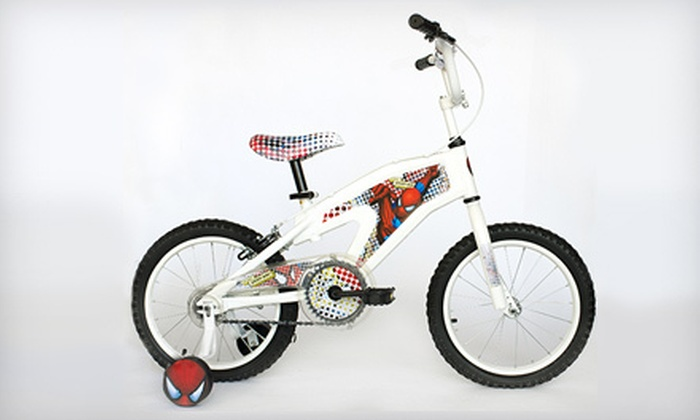 $59 for a Child\'s Spiderman Bicycle | Groupon