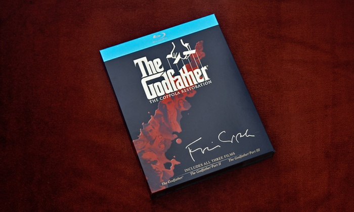 """The Godfather"" Trilogy on Blu-ray: $35 for ""The Godfather"" Trilogy (The Coppola Restoration) on Blu-ray ($57.99 List Price). Free Shipping and Returns."