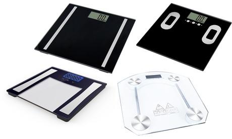 Báscula de baño digital de peso y grasa corporal