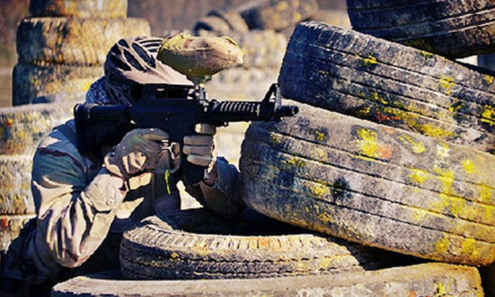 Air Warriors Paintball - Lemoore: Paintball Outing with 200 Paintballs and Optional Marker Rental at Air Warriors Paintball (Up to 52% Off)