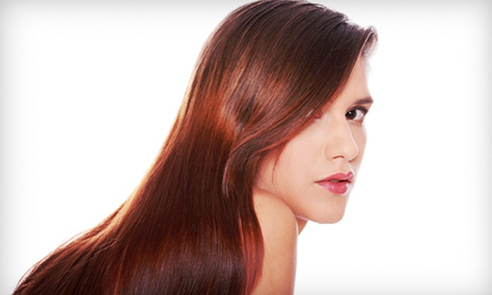 Le Petite Salon - Dixon: Haircut Packages with Conditioning, Color, or Highlights, or Keratin Smoothing at Le Petite Salon (Up to 67% Off)
