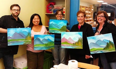 Adult Painting Class or Parent and Child Painting Classes for One or Two Adults at Clay Cafe (Up to 51% Off)