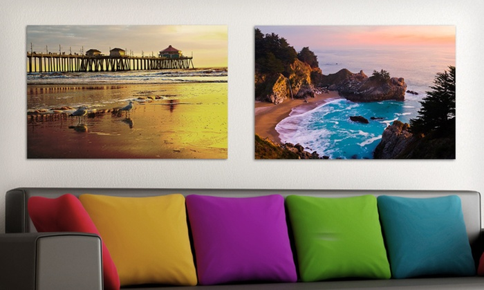 "Beach Canvas Prints: $59.99 for 24""x36"" Gallery-Wrapped Canvas Beach Print ($218 List Price). 20 Options Available. Free Shipping & Returns."