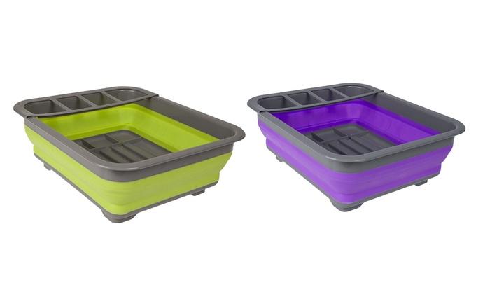 Egouttoir vaisselle pliant silicone