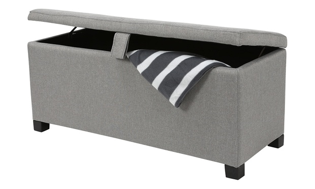 79 for a padded fabric storage ottoman and sitting box for Ottoman to sit on